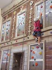building meets climbing wall